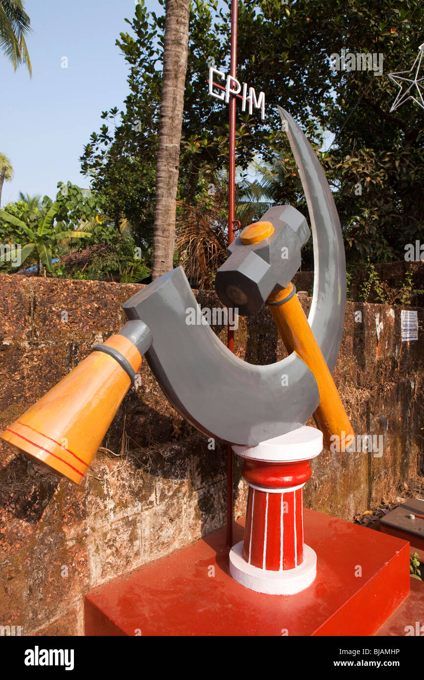 India kerala cannanore kannur communist party india maoist india kerala cannanore kannur communist party india maoist hammer and sickle symbol in rural village biocorpaavc Gallery
