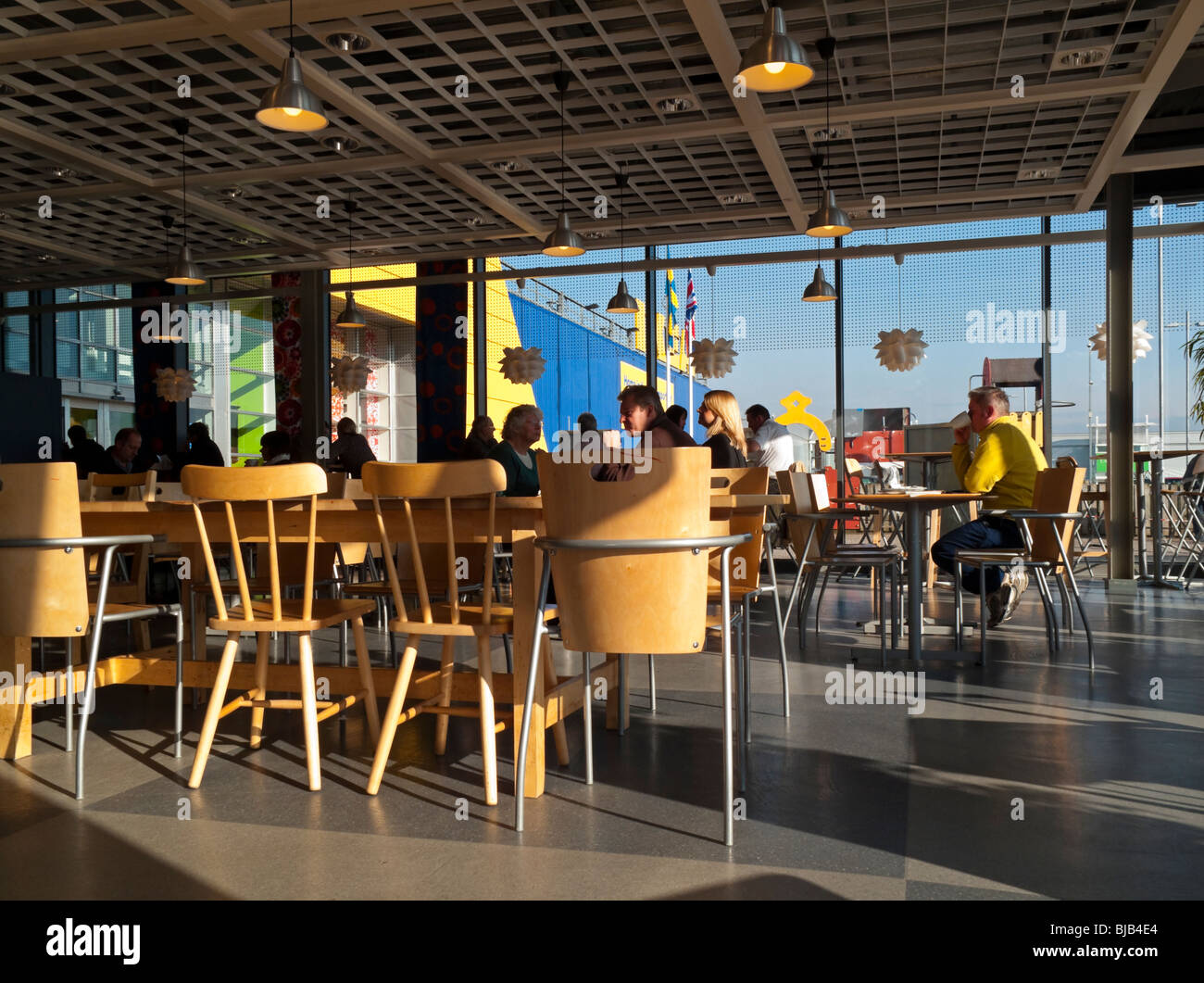 interior of ikea cafe at giltbrook retail park near nottingham stock photo royalty free image. Black Bedroom Furniture Sets. Home Design Ideas
