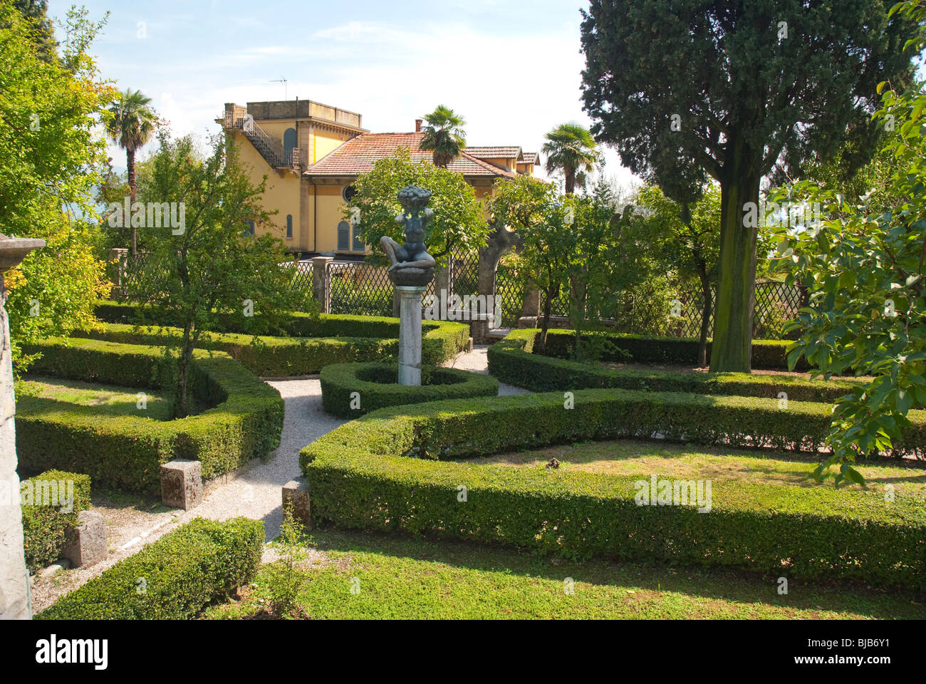 Garden Of Il Vittoriale The Home Of Poet Gabrieli D
