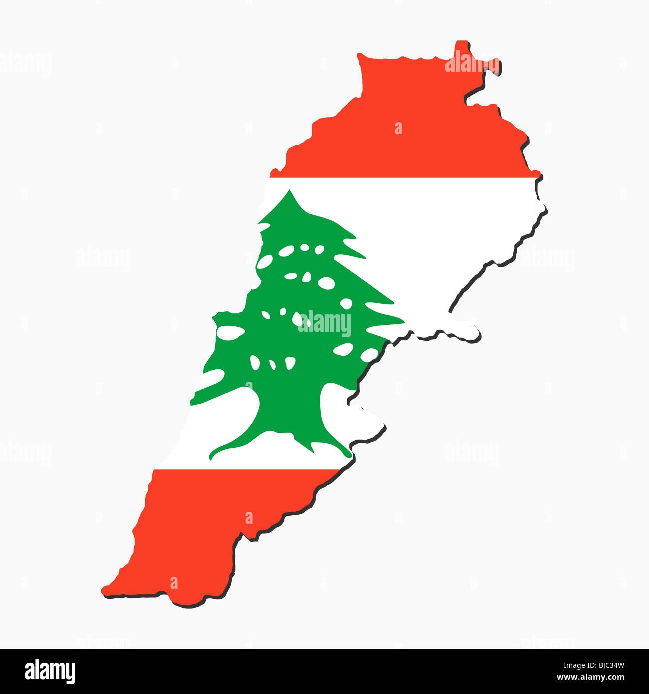 Map of lebanon and lebanese flag illustration stock photo royalty map of lebanon and lebanese flag illustration sciox Gallery