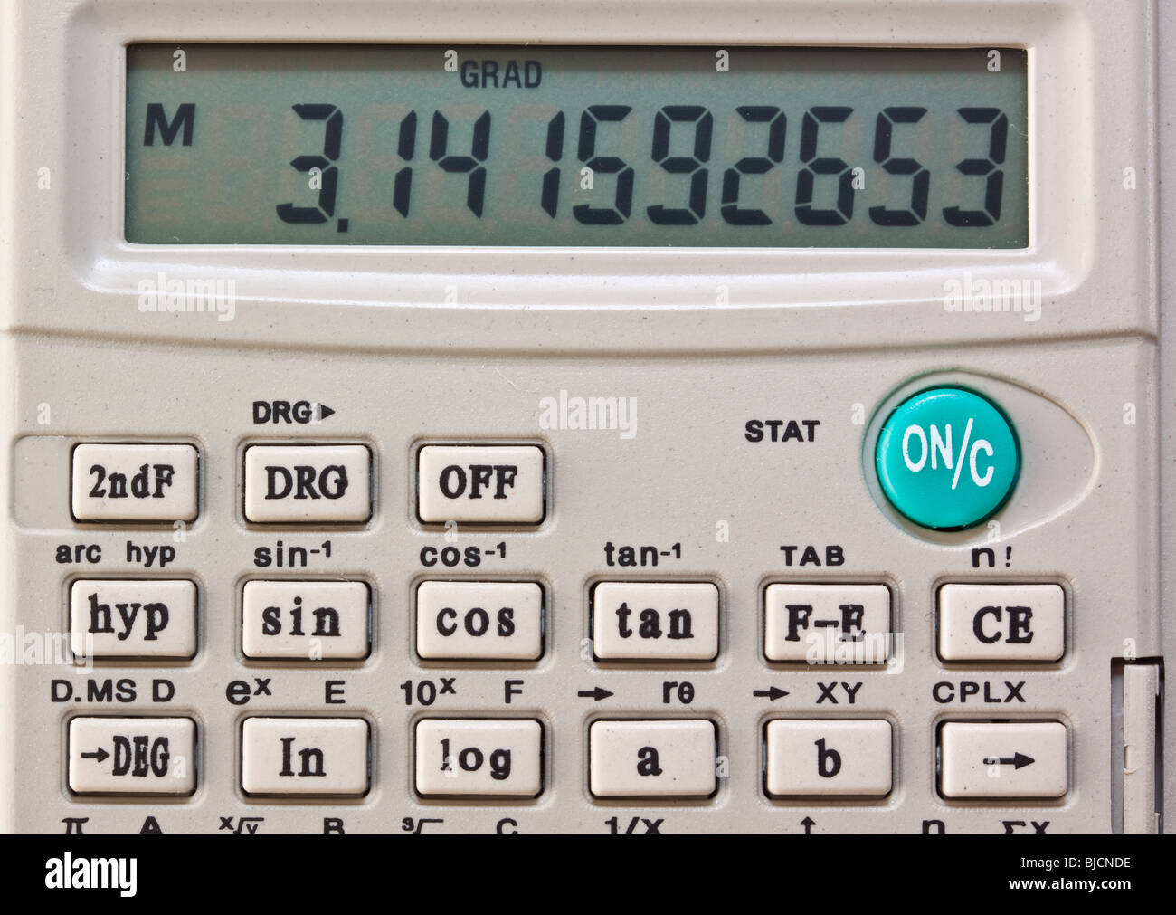 Scientific Calculator Showing Numerical Value of Pi Stock Photo ...
