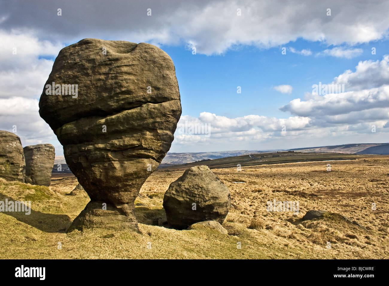 The Bridestone rocks above Lydgate, Todmorden, Calder ...