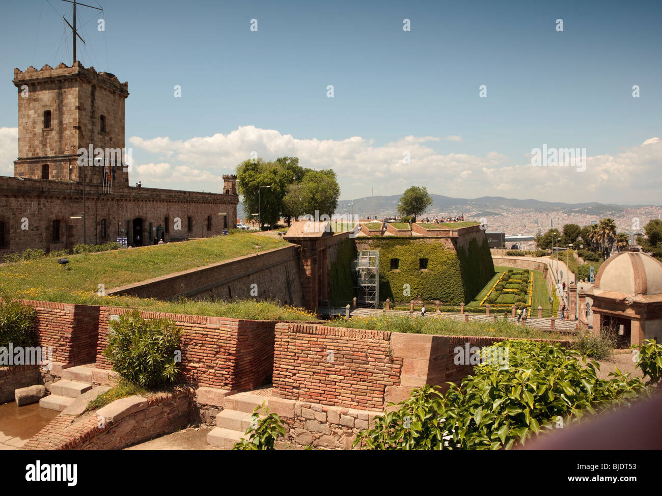 Part Of Walls And Gardens At Montjuïc Castle, An Old Military Fortress On  Montjuic Mountain Barcelona Nice Ideas