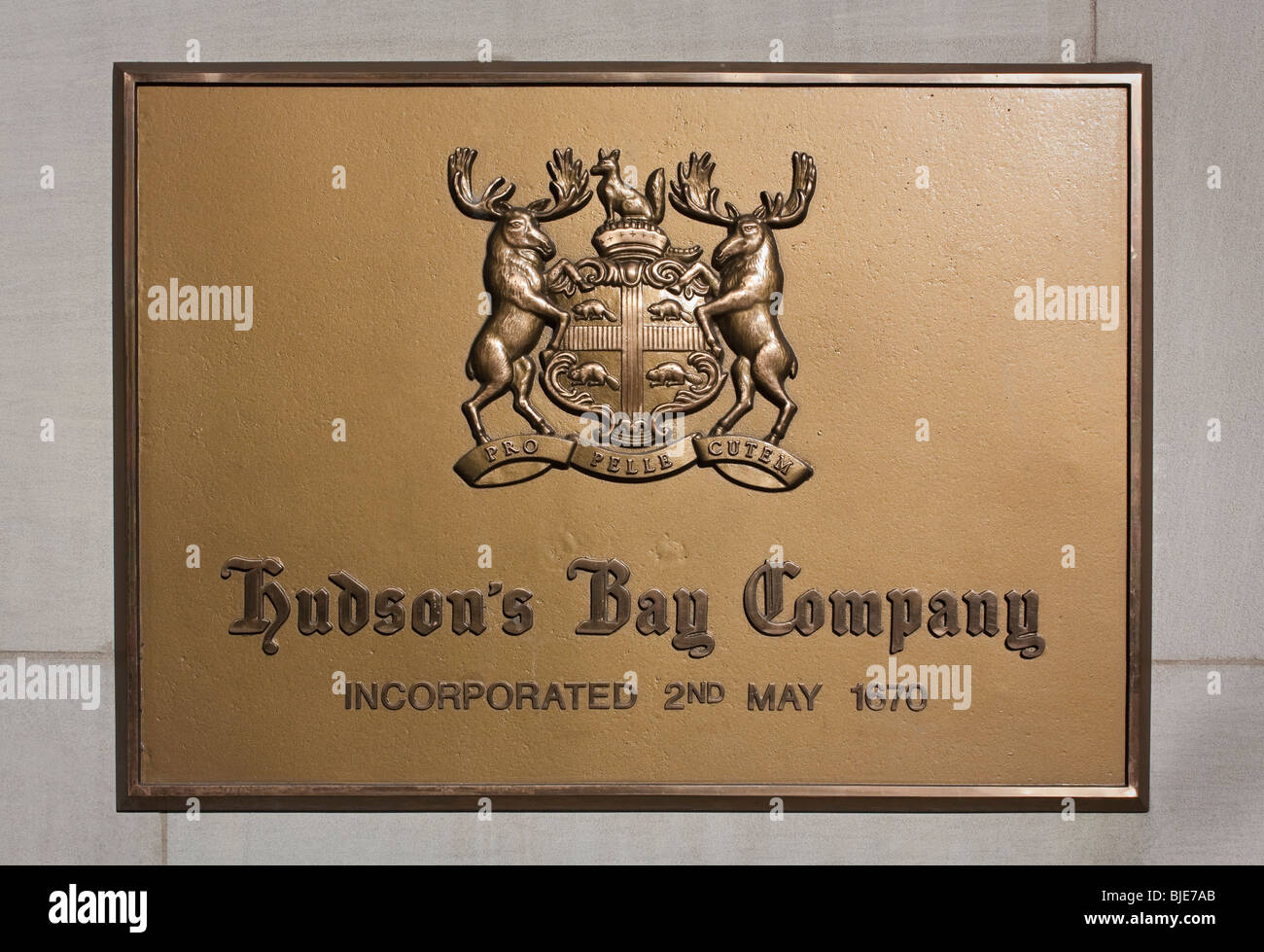 Hudsons bay company moose logo plaque stock photo 28587283 alamy hudsons bay company moose logo plaque buycottarizona Choice Image