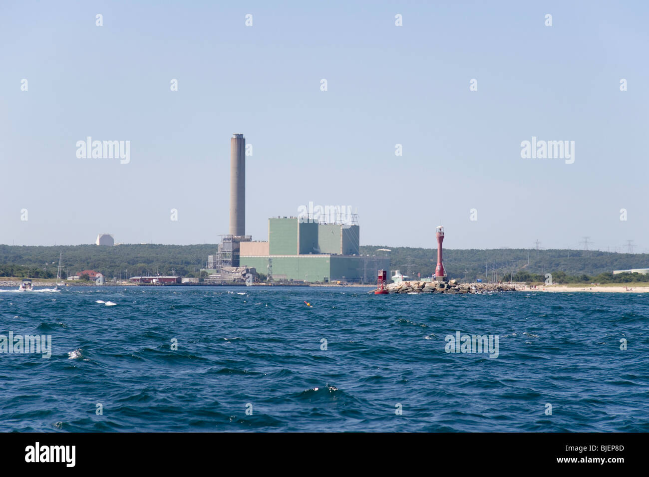 Sandwich power plant at the east end of the cape cod canal stock sandwich power plant at the east end of the cape cod canal nvjuhfo Choice Image