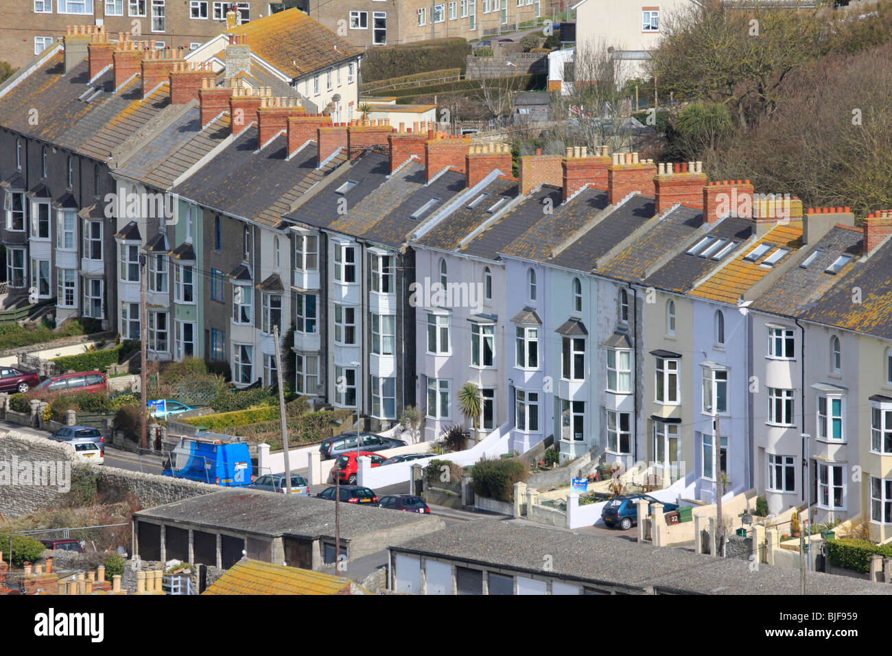 Closely Packed Houses Fortuneswell Portland Dorset England