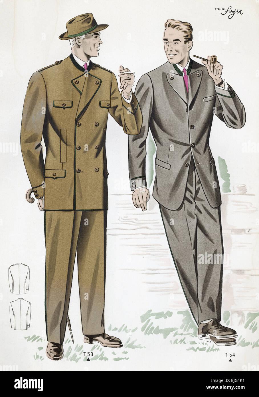 fashion 1950s clothes clothing mens fashion two