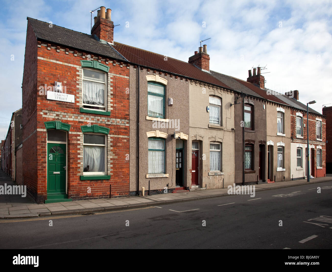 Yorkshire Terrace: Garnet Street Red Brick, Two-up Two-down, Small Terraced
