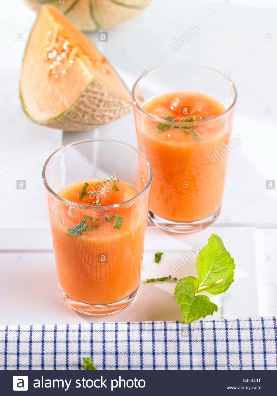 mint melon soup