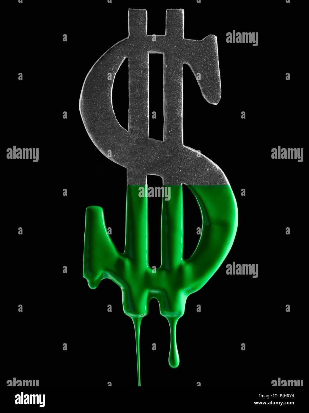 American dollar symbol dripping green paint stock photo royalty american dollar symbol dripping green paint biocorpaavc