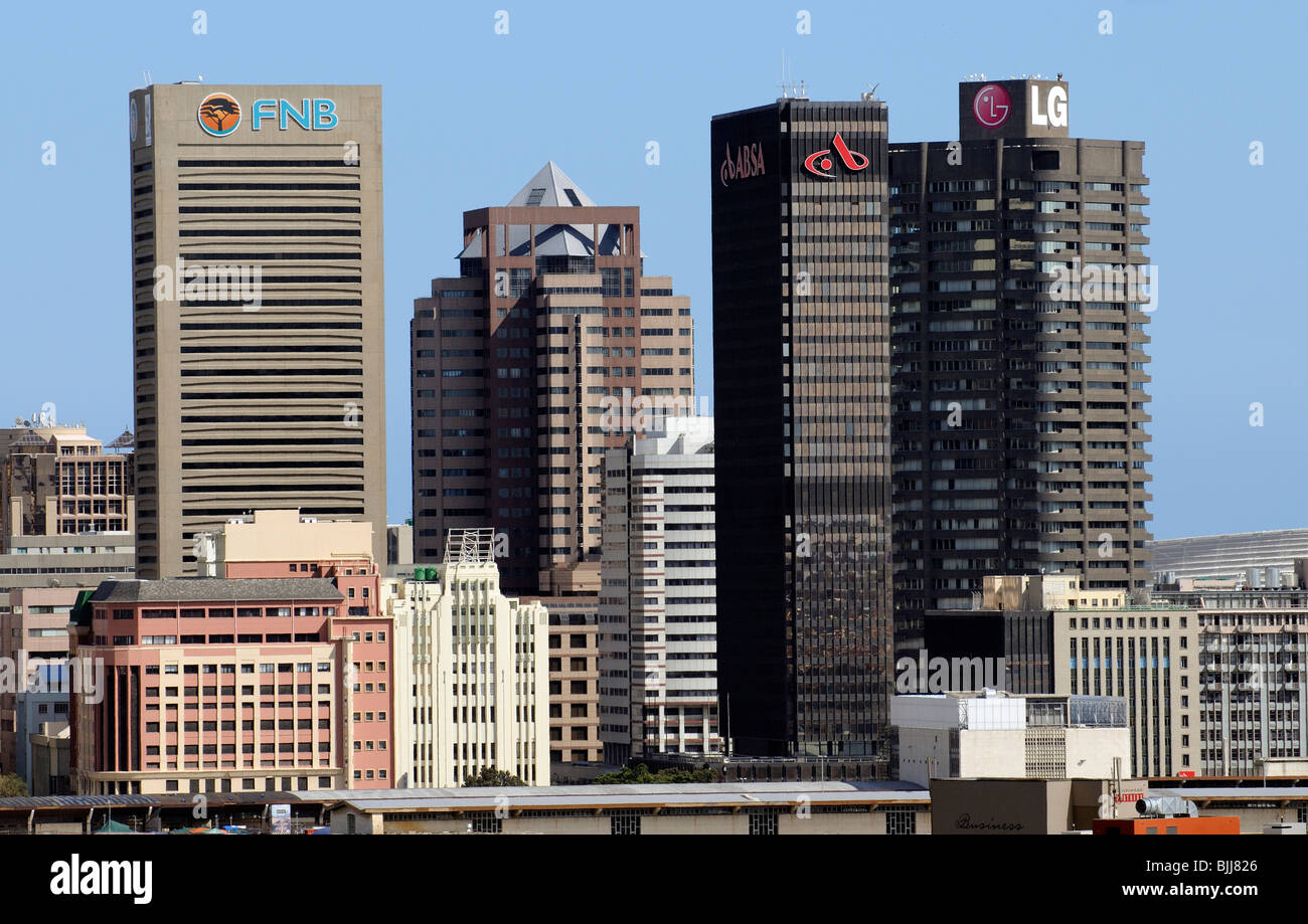 Highrise Buildings Of Cape Town South Africa City Centre Fnb Absa Stock