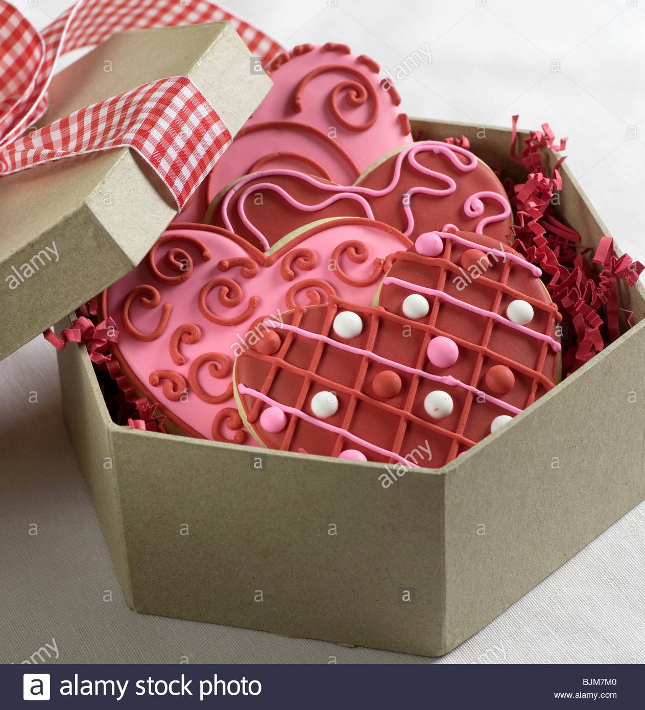 Heart Shaped Cookies for Valentineu0027s Day in a Gift Box & Heart Shaped Cookies for Valentineu0027s Day in a Gift Box Stock Photo ... Aboutintivar.Com
