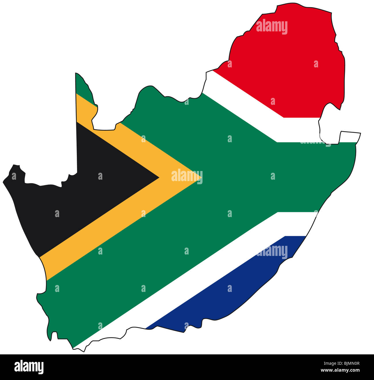 South Africa flag outline Stock Photo Royalty Free Image