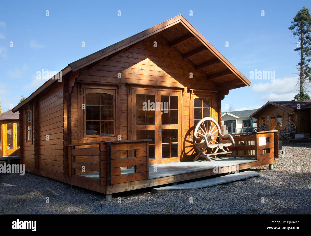 garden shed outbuilding chalet summerhouse or cabin at retail unit royal deeside scotland uk - Garden Sheds Scotland