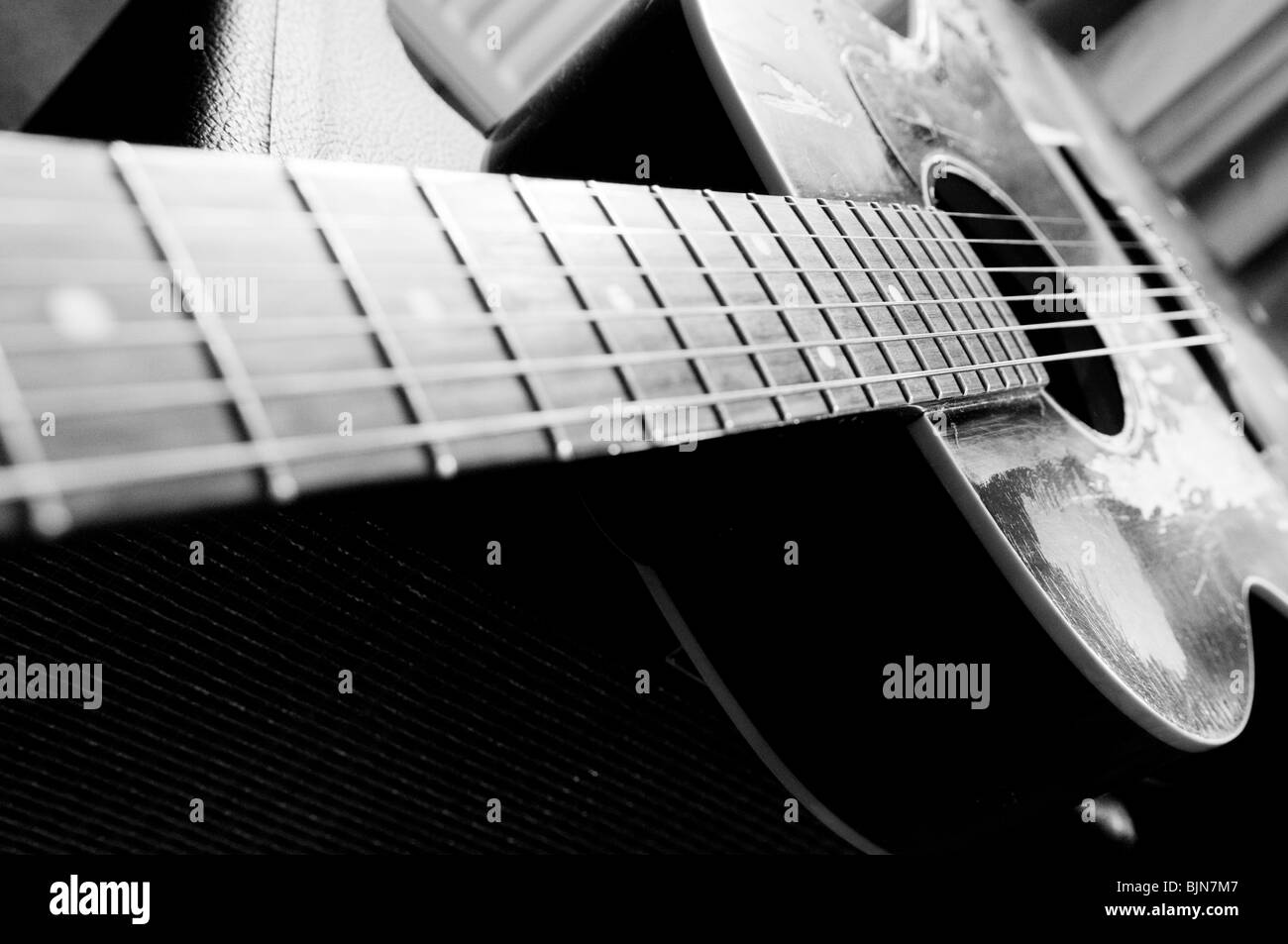 Black and white music photography guitar