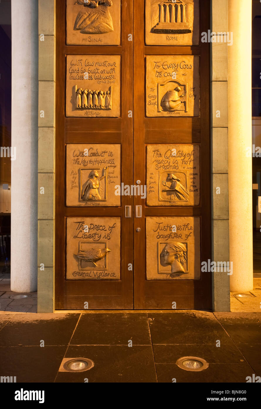 Elaborately Decorated Main Doors To The Bar Library Belfast Northern Ireland : doors belfast - Pezcame.Com