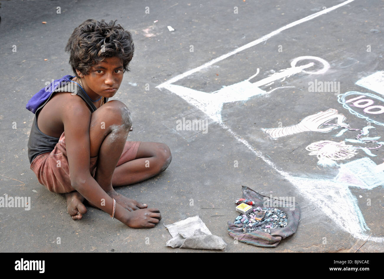 Street Child from Kolkata (Calcutta) India Stock Photo, Royalty ...