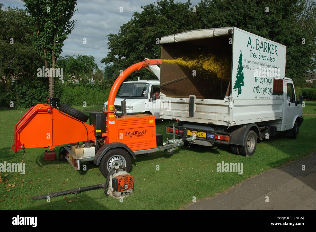 tree shredding machine