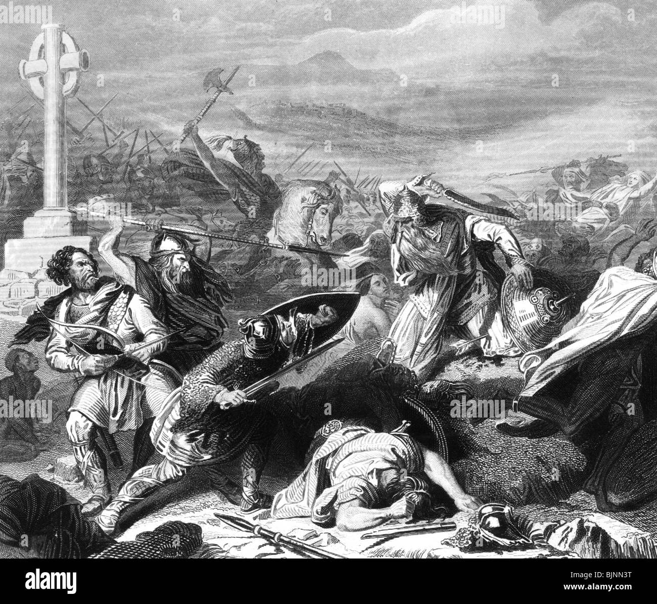 battle of tours The carolingian franks come in sight of the arabs in october of 732 ad the enemy spots charles and his army and at first hesitates the two armies remain camped, staring each other down, for seven days.