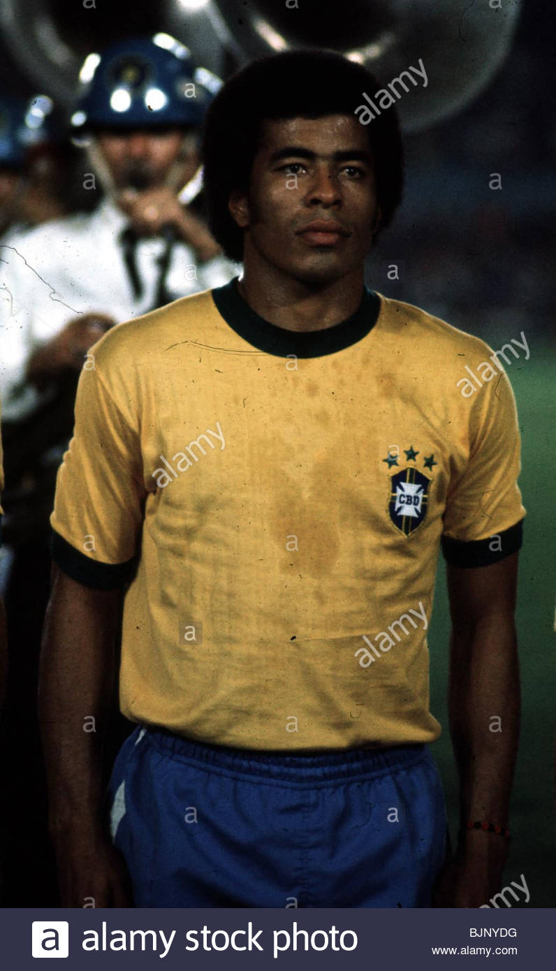 SEASON 1973 1974 BRAZIL Jairzinho Stock Royalty Free Image