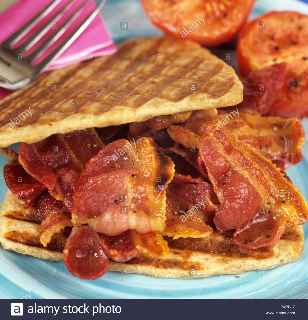 Bacon Sandwich In Potato Waffles Uk