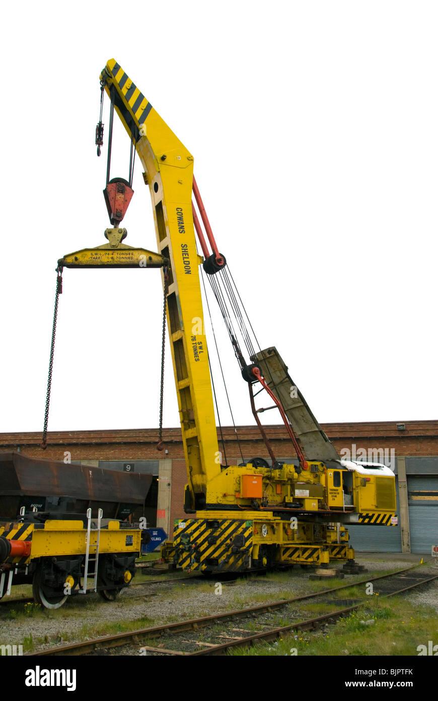 Jib Crane Testing : Cowans sheldon tonne strut jib rail crane undergoing