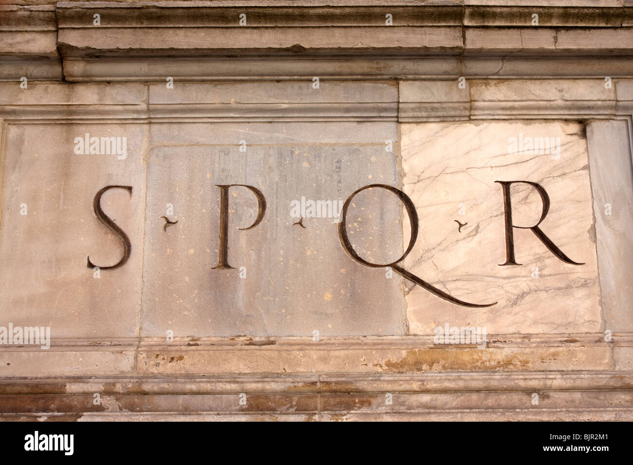 Spqr inscription initials for the phrase senatus populusque spqr inscription initials for the phrase senatus populusque romanus meaning the senate and people of rome italy biocorpaavc