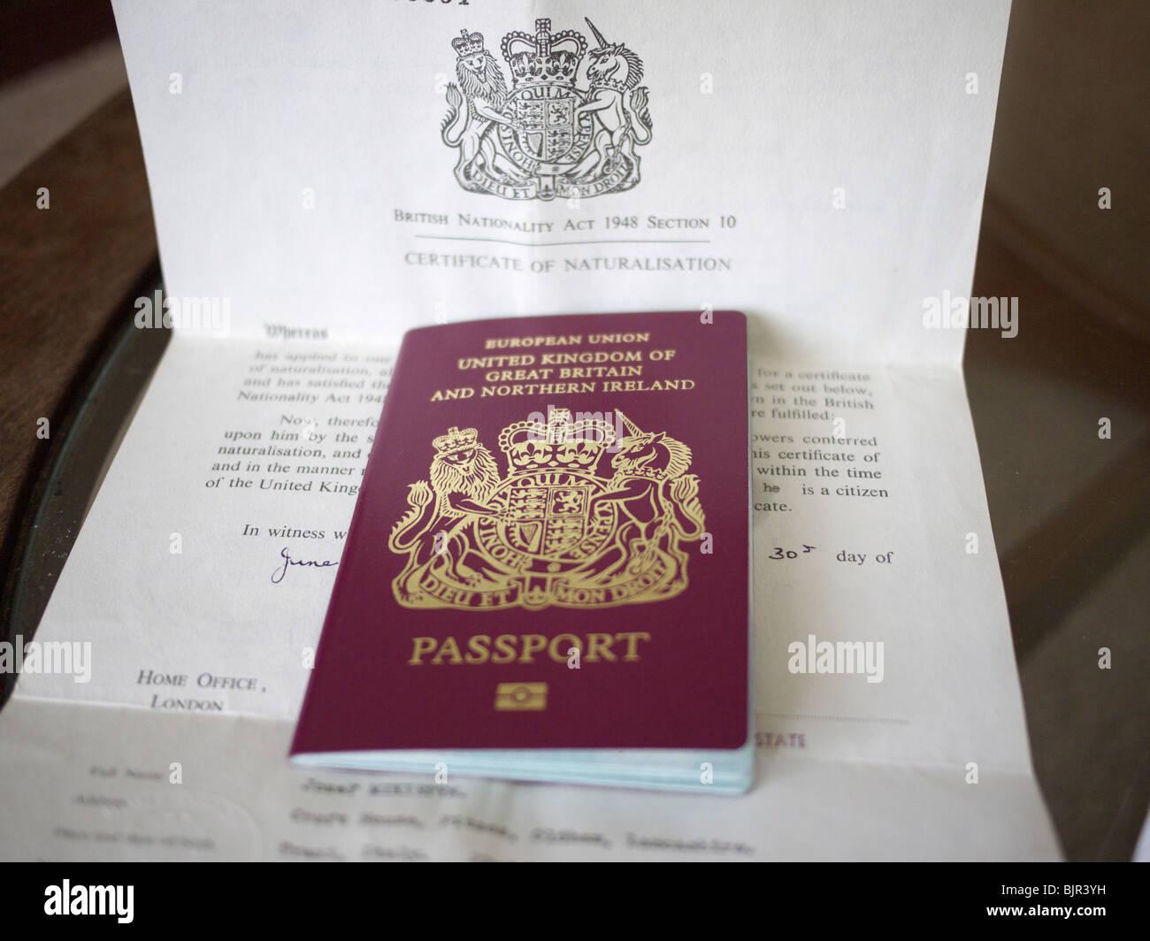 Certificate of naturalization and uk passport stock photo certificate of naturalization and uk passport 1betcityfo Choice Image