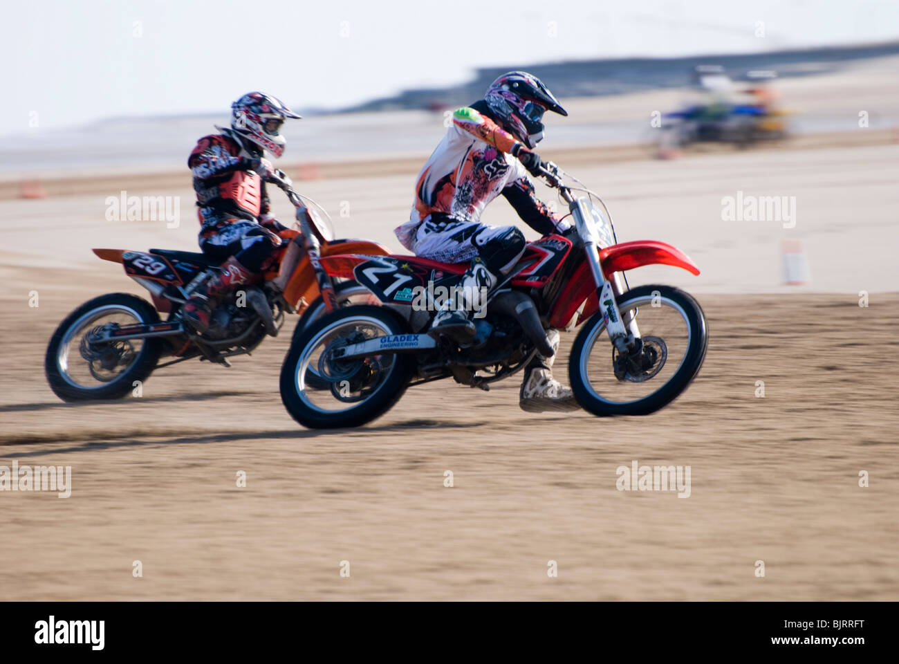 Motor Bike Sand Racing On Stock Photos Motor Bike Sand Racing On