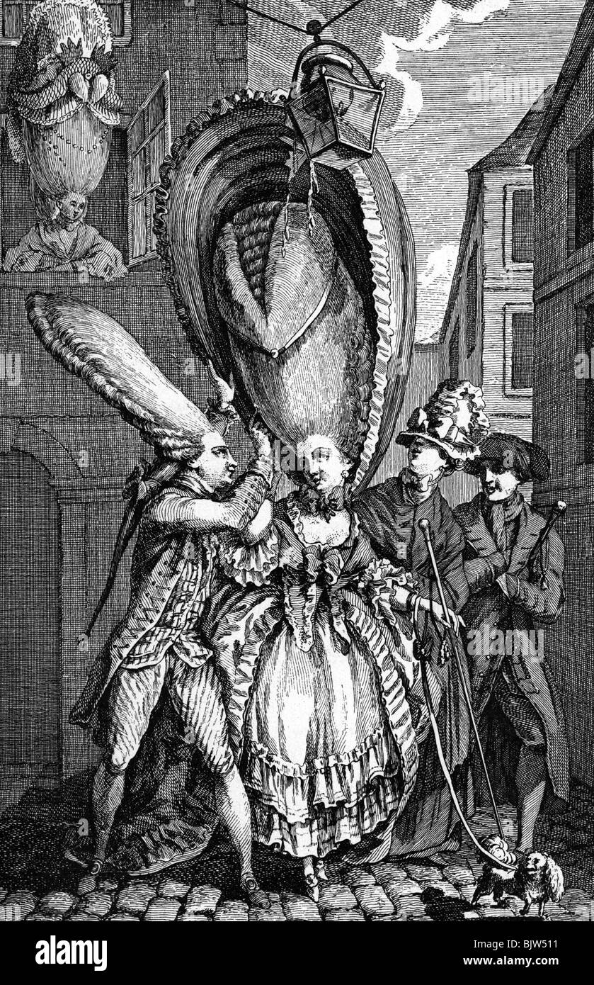 Fantastic Fashion Hairdress 18Th Century Beehive Hairstyle Lady Hang Short Hairstyles Gunalazisus