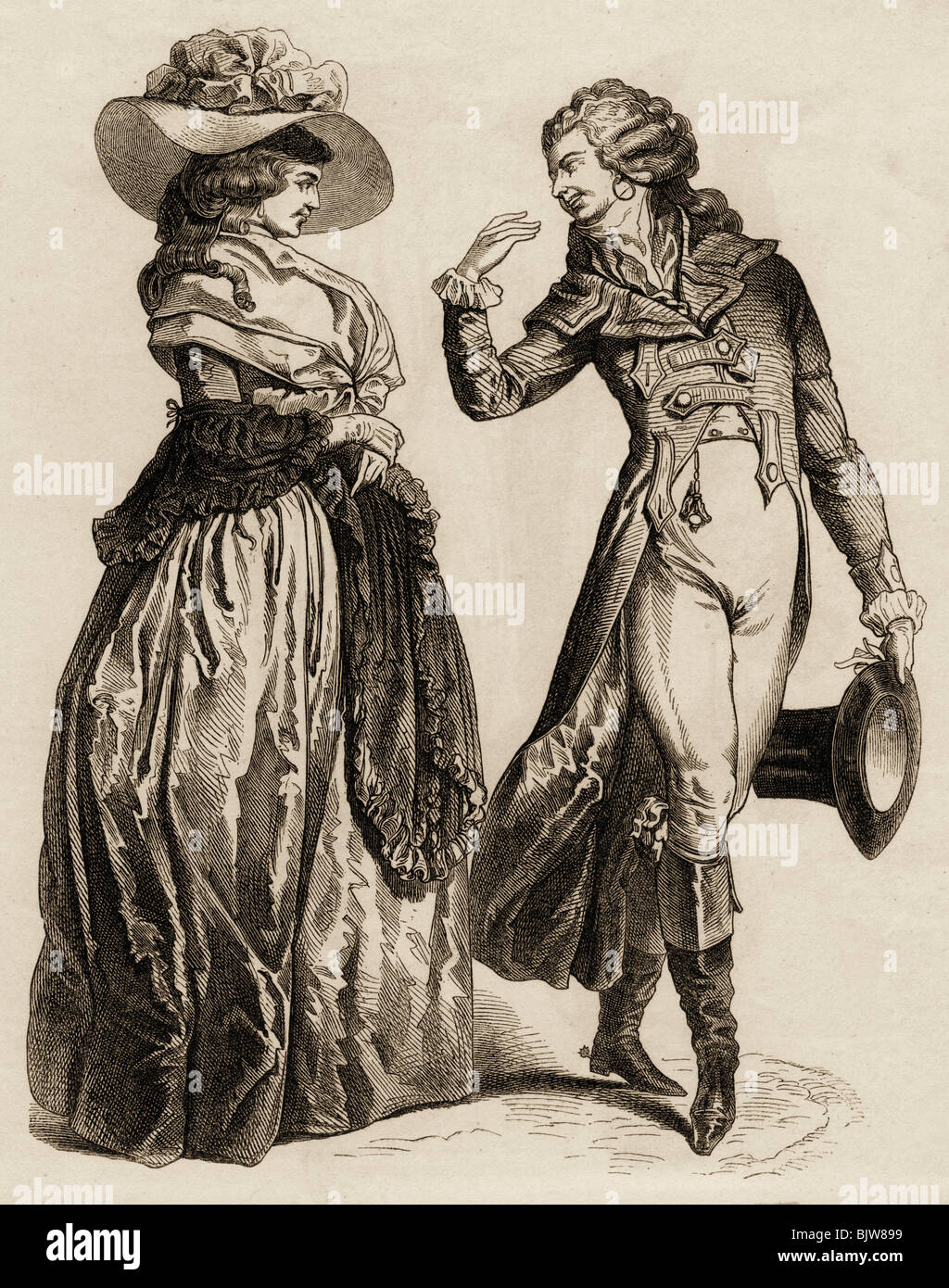 late 18th century womens fashion Looking at eighteenth-century clothing by linda baumgarten during much of the eighteenth century, women's skirts were long and the sleeves covered the elbows.