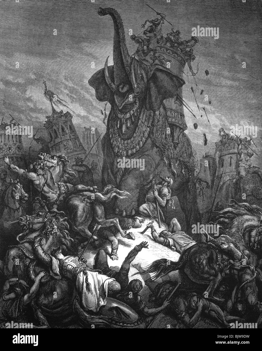 religion biblical scenes quotdeath of eleazarquot wood