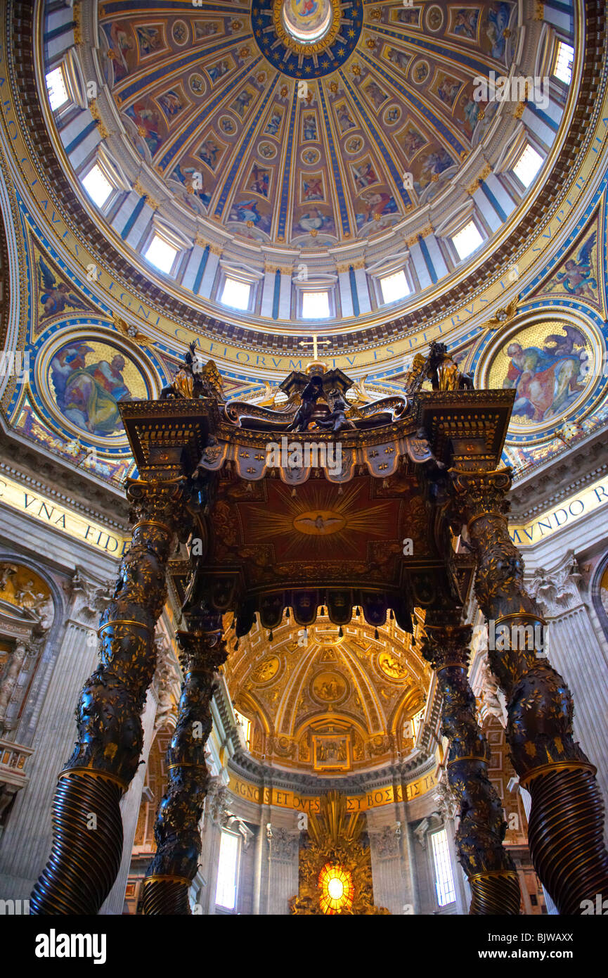 Baroque Canopy Baldacchino By Bernini And The Dome Of