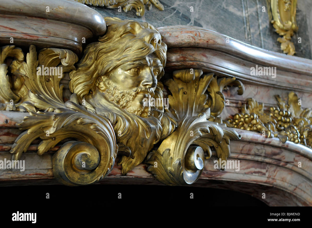 Detail above the fireplace in the hercules salon of the for Above all grand salon