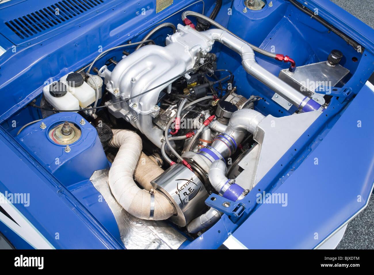 heavily modified rotary wankel engine mazda rx7 sports car built