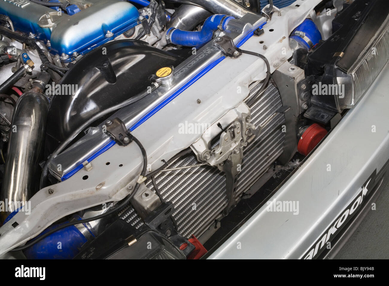 Design of a car radiator - Radiator In The Front Of A Modified Japanese Nissan S13 Sports Car