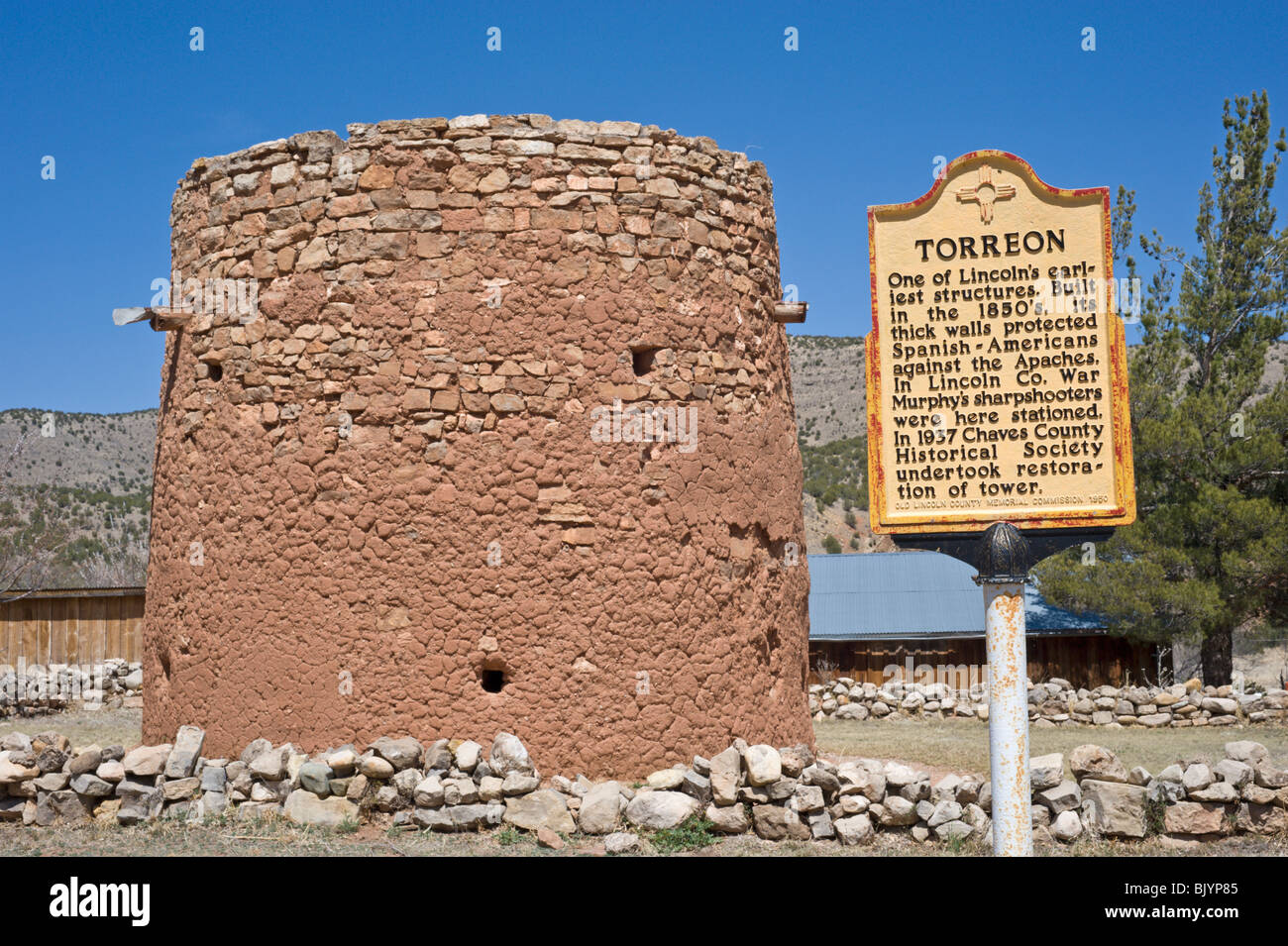 The Adobe Torreon Stands As A Remnant Of The Lincoln