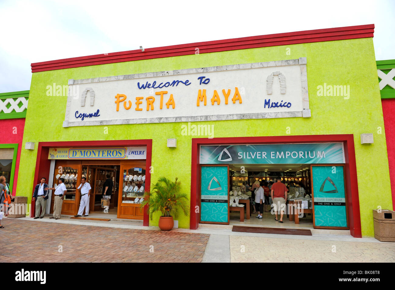 jewelry store in puerta maya and cozumel mexico stock
