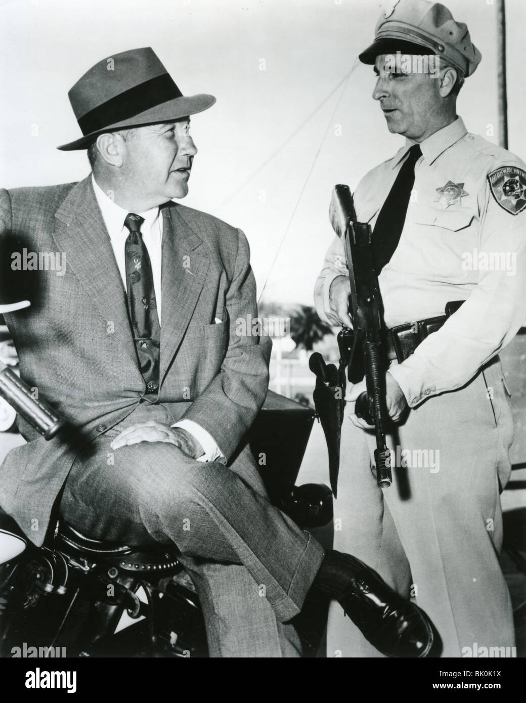 Highway Patrol Tv Show >> HIGHWAY PATROL - US ZIV TV series 1955-59 with Broderick Crawford at Stock Photo, Royalty Free ...
