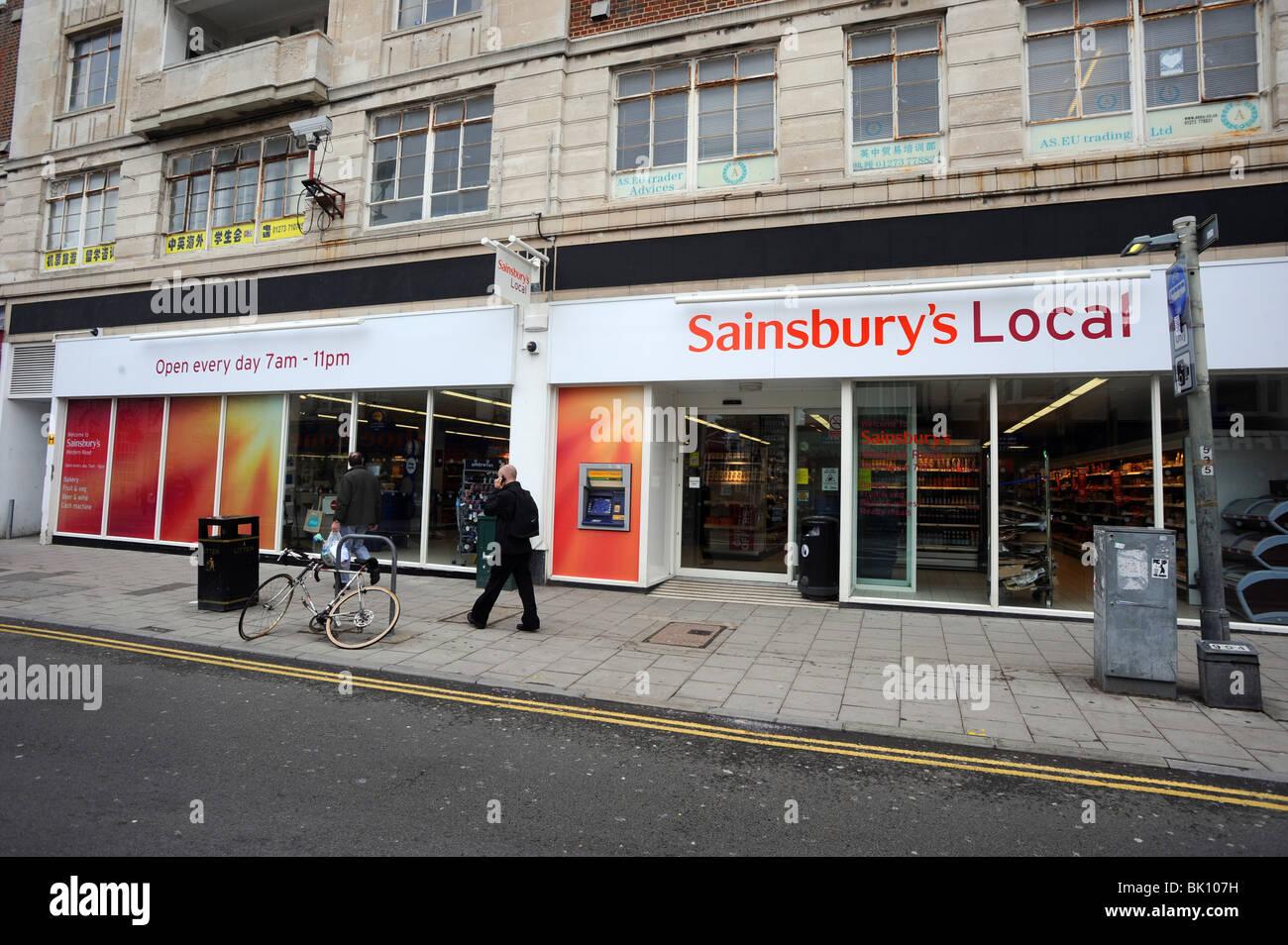 White apron sainsburys - Front Of A Sainsbury S Local Store On Western Road Brighton Stock Image