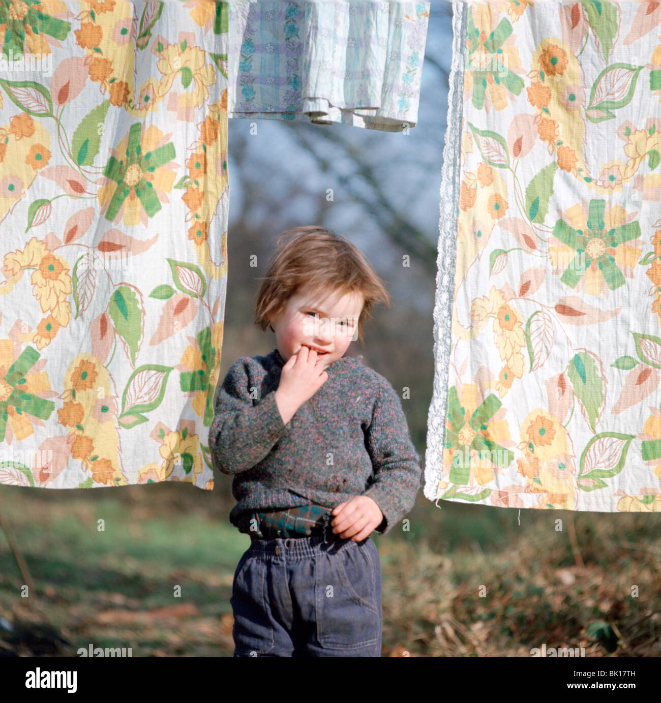 gipsy child Stock Photo - Young gipsy child of the Vincent family, Charlwood, Newdigate area, Surrey, 1964