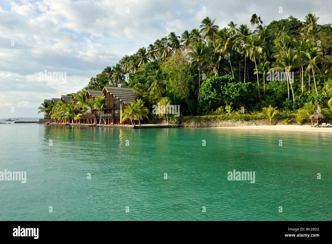 beach pearl farm resort on samar island in davao mindanao stock