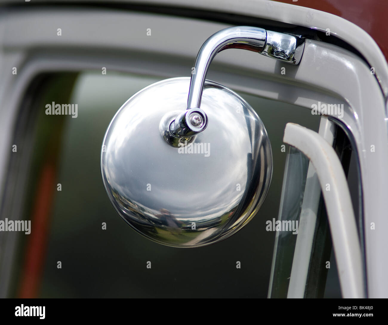 Door Hung Rear View Mirror On Classic Morris Minor 1000