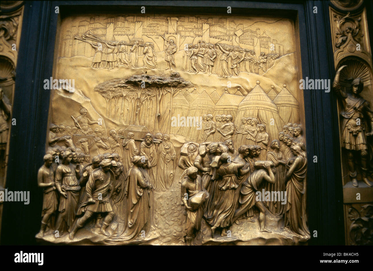 Bronze panel doors (known as Gates of Paradise by Lorenzo Ghiberti) on Baptistery of San Giovanni by Lorenzo Ghiberti Florence & Bronze panel doors (known as Gates of Paradise by Lorenzo Ghiberti ... Pezcame.Com