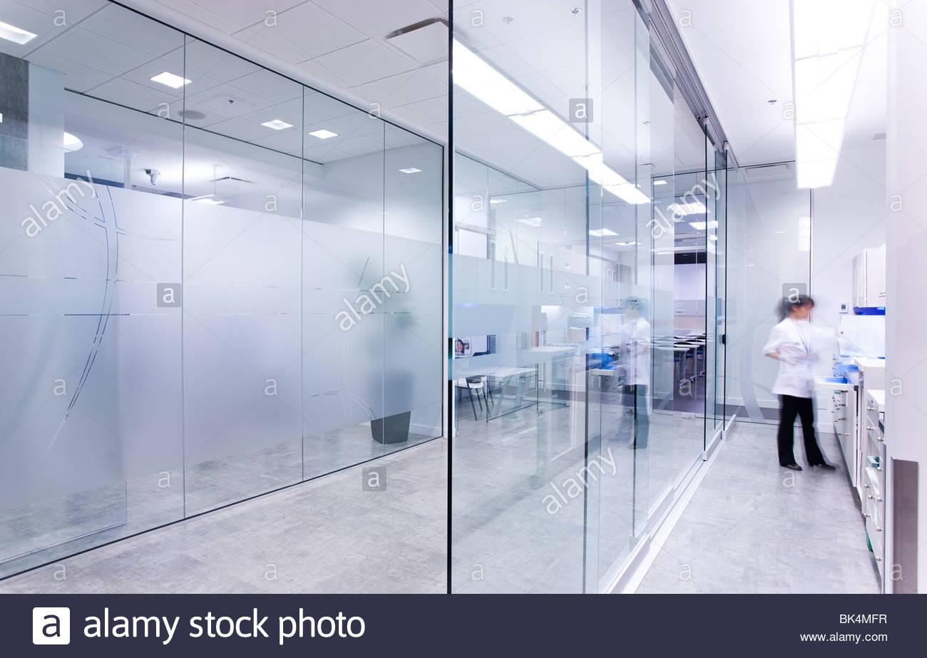A Woman In Sterilization Room Of Dental Laboratory