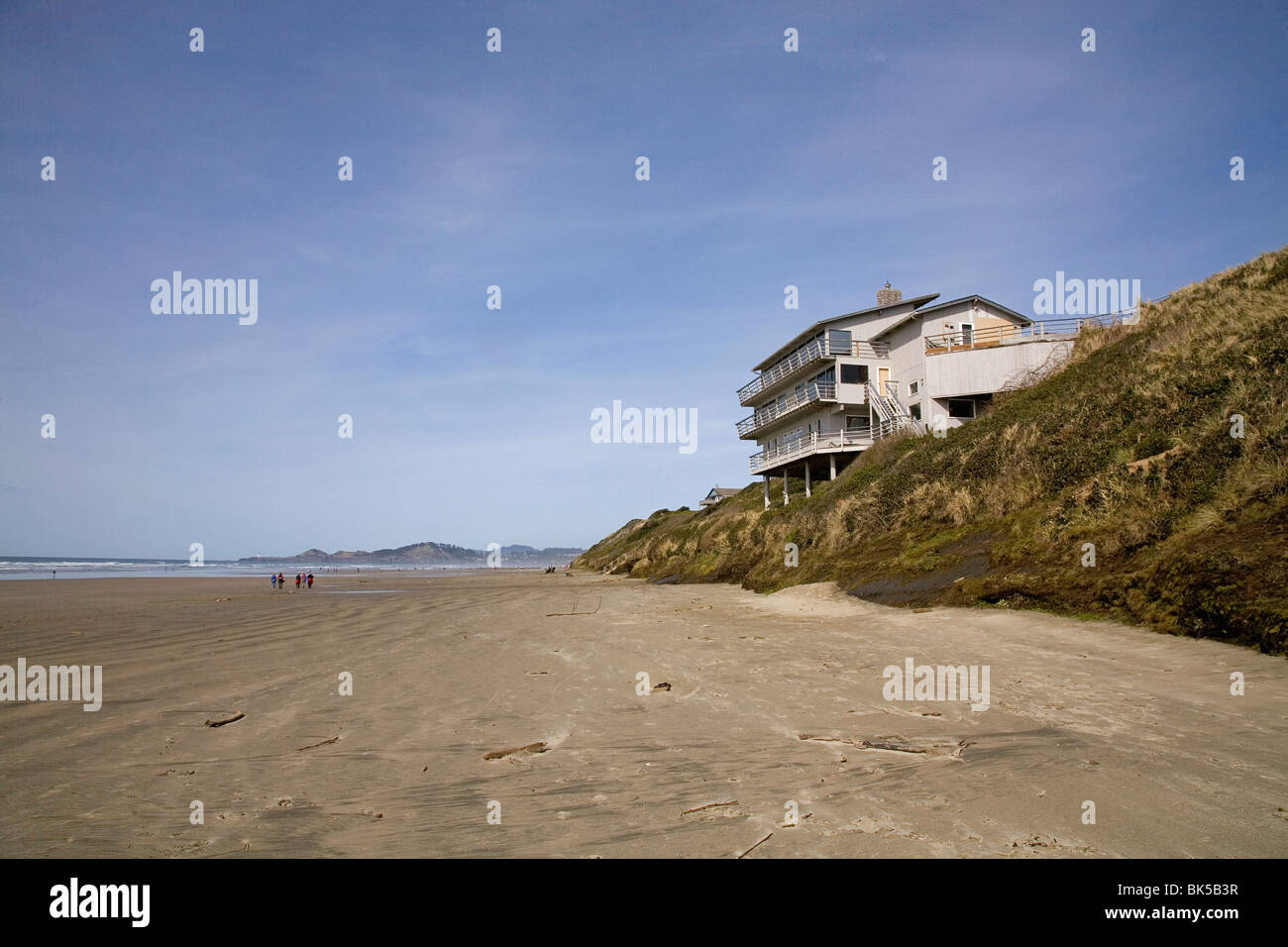 Nice Beach House Newport Oregon Part - 12: A Beach House Sits On Sand Dunes Eroded By High Water And Wind On The Oregon  Pacific Coast In Newport, Oregon