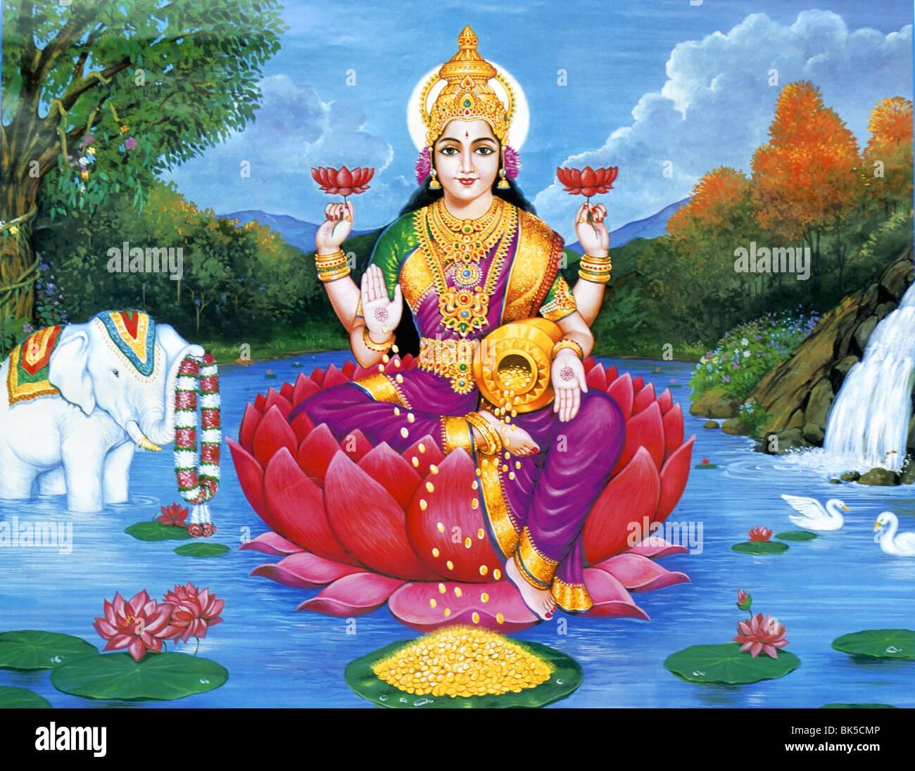 Goddess Lakshmi, Is The Hindu Goddess Of Wealth, Fortune