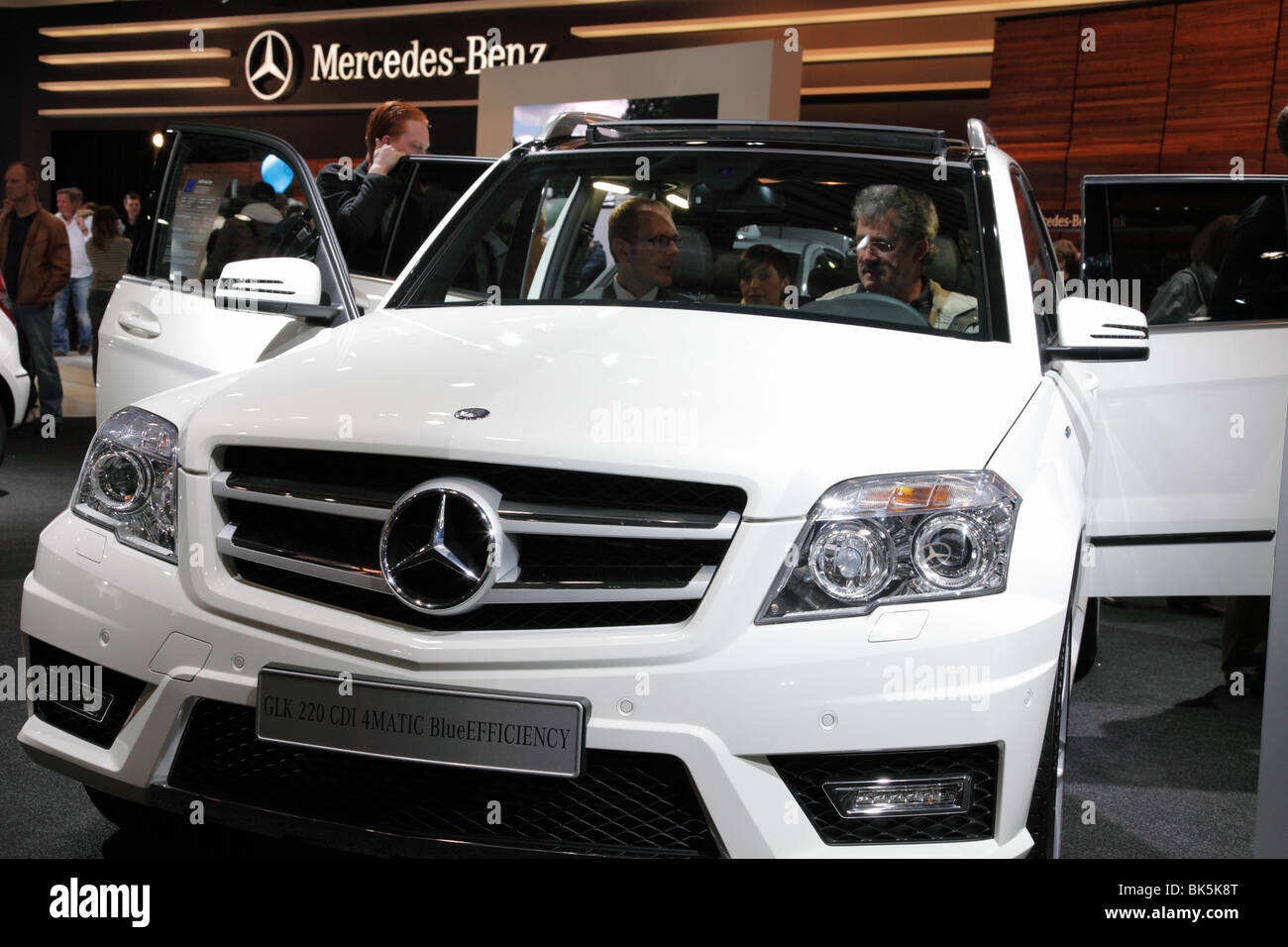 mercedes glk 220 cdi 4matic blueefficiency at the auto mobil stock photo royalty free image. Black Bedroom Furniture Sets. Home Design Ideas