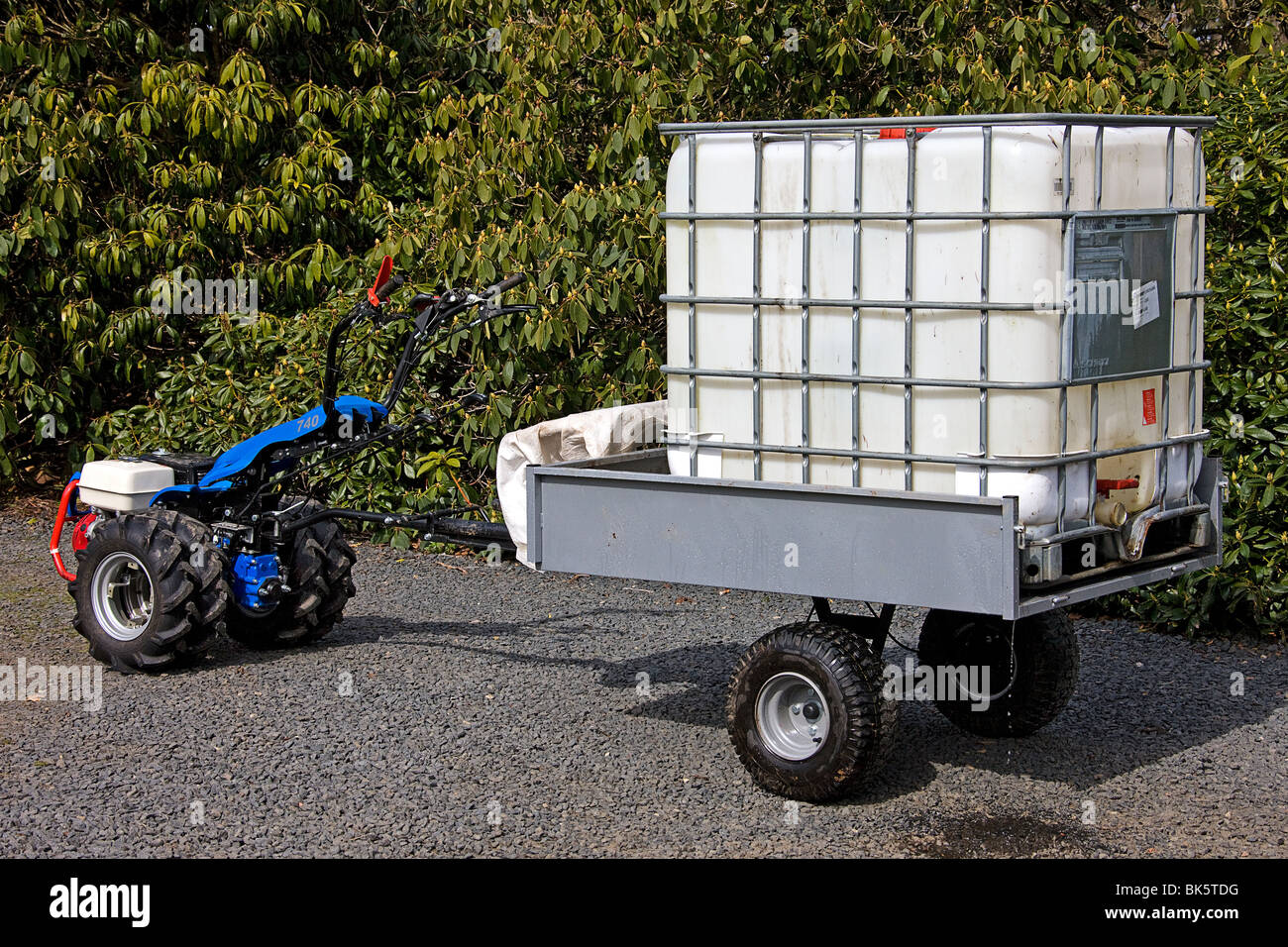 Water Tank Trailer >> Bcs Tractor And Trailer With Water Tank Stock Photo 29017788 Alamy