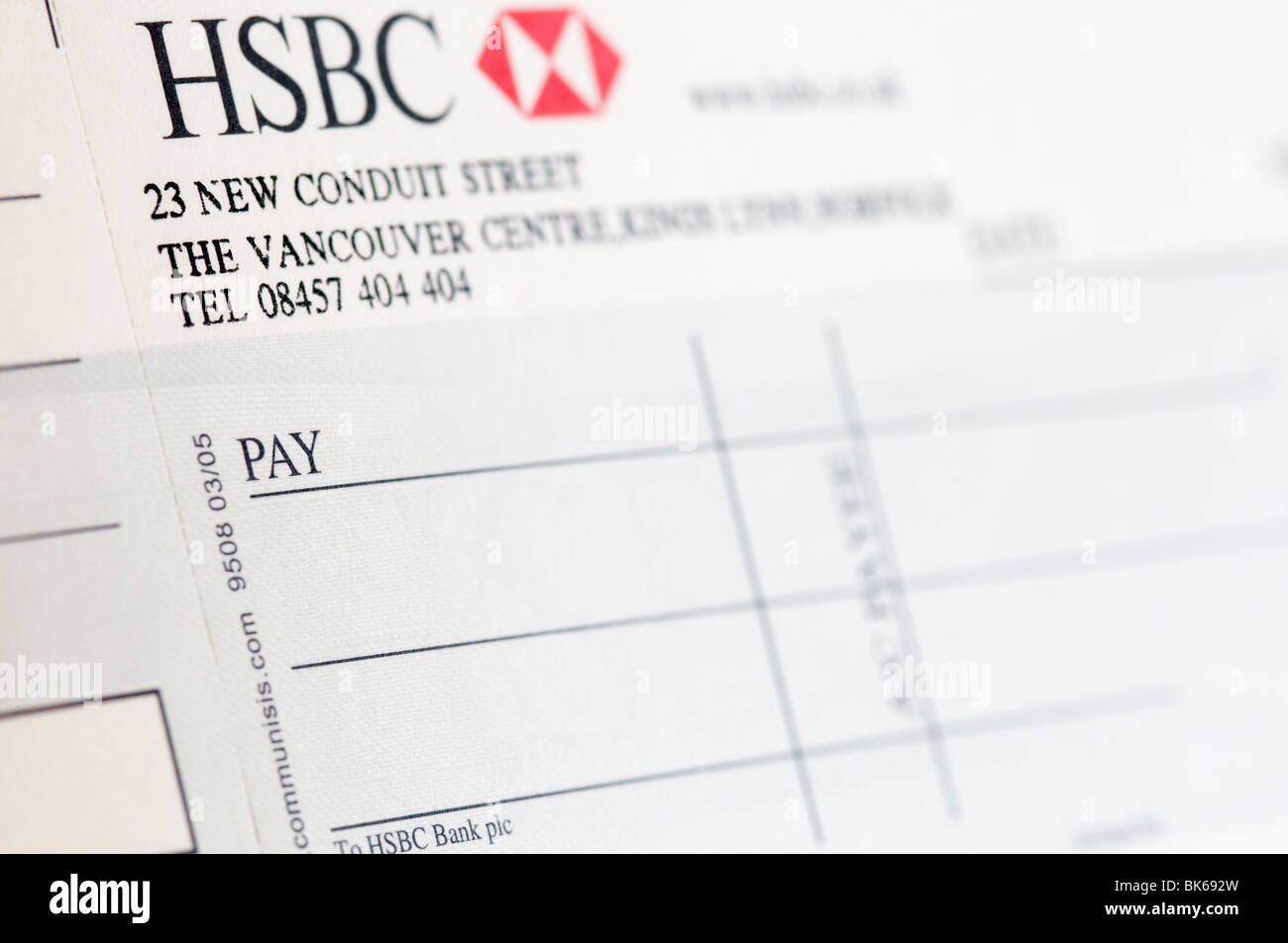 Hsbc Bank Cheque Stock Photos & Hsbc Bank Cheque Stock Images Alamy How To  Write A